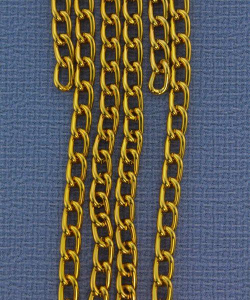 800AL-063TG = Aluminum Curb Chain Tangerine 6 x 3.6mm Wide 5 feet Long