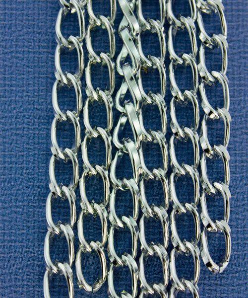 800AL-095BS = Aluminum Curb Chain Bright Silver 9.3 x 5.3mm Wide 5 feet Long