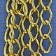 800AL-149BG = Aluminum Curb Chain Bright Gold 14.4 x 9mm Wide 5 feet Long