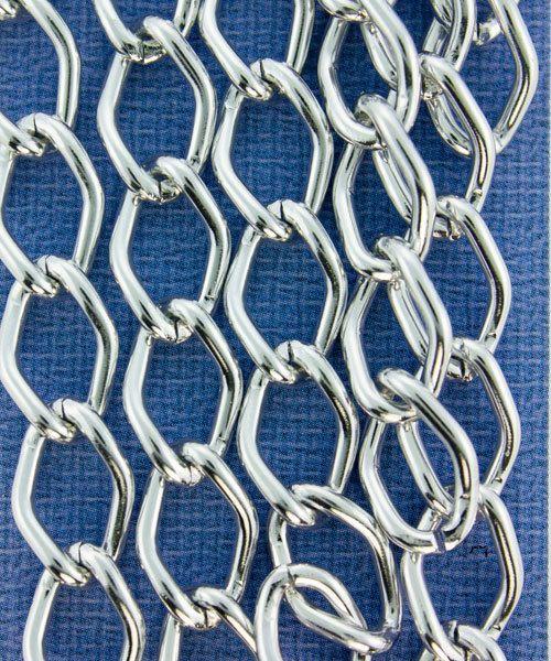 800AL-149BS = Aluminum Curb Chain Bright Silver 14.4 x 9mm Wide 5 feet Long