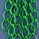 800AL-149KG = Aluminum Curb Chain Kelly Green 14.4 x 9mm Wide 5 feet Long