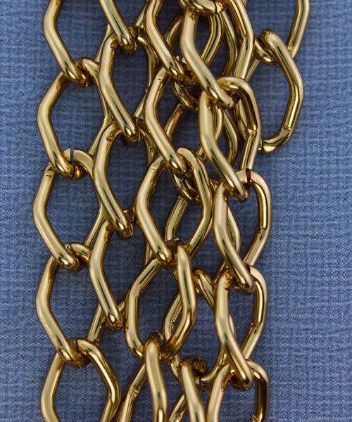 800AL-149LC = Aluminum Curb Chain Light Copper 14.4 x 9mm Wide 5 feet Long