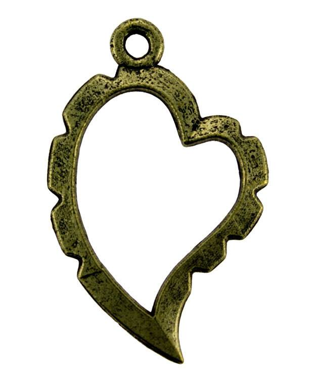 810AB-05 = Wrapper Curved Heart by Artistic Wire Antique Brass Color (Pkg of 5)