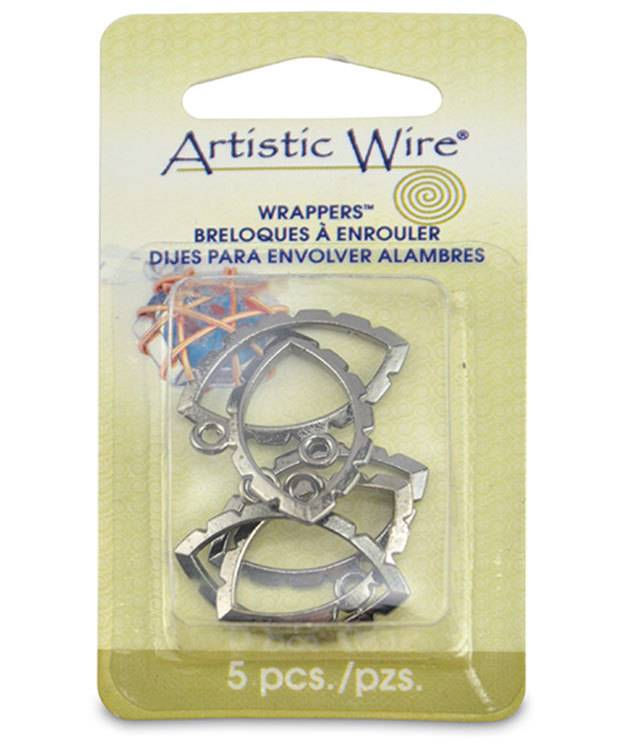 810HC-09 = Wrapper Navette by Artistic Wire Hematite Color (Pkg of 5)