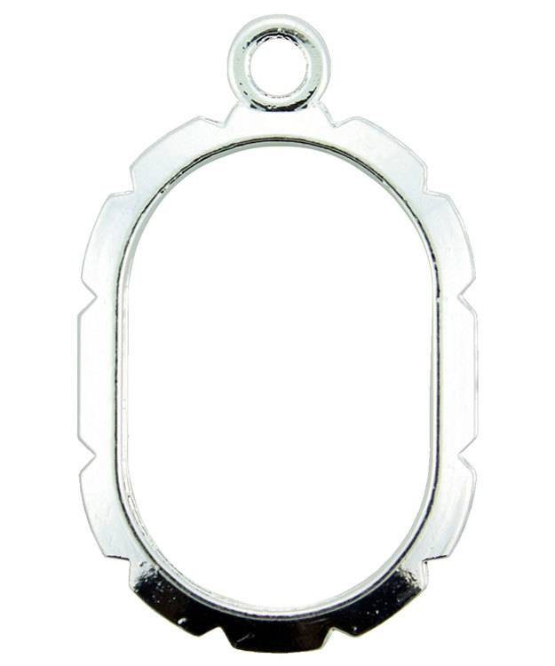810SP-03 = Wrapper Oval by Artistic Wire Silver Plated (Pkg of 5)
