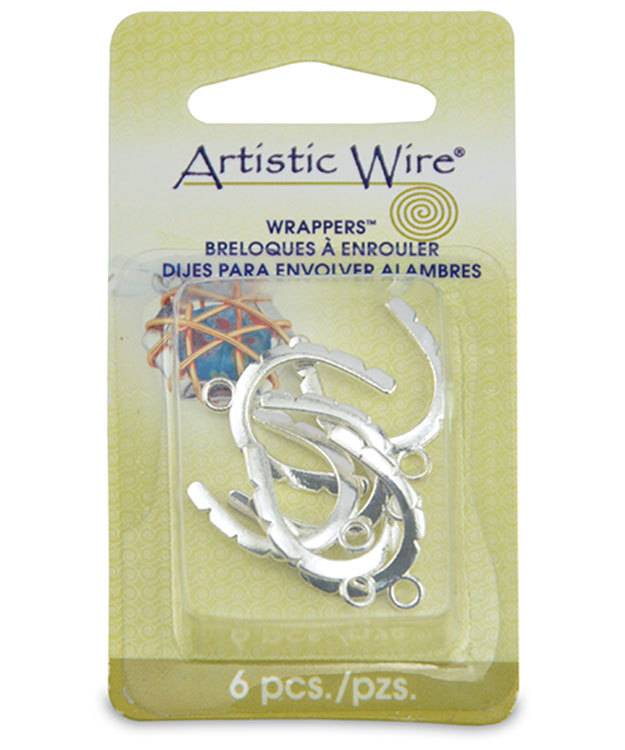 810SP-04 = Wrapper Curved by Artistic Wire Silver Plated (Pkg of 6)