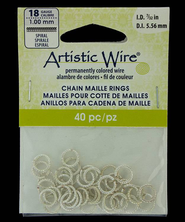 """900AWSS-08 = Artistic Wire Spiral Wire Silver Color Jump Ring 5.5mm ID (7/32"""") 18ga"""