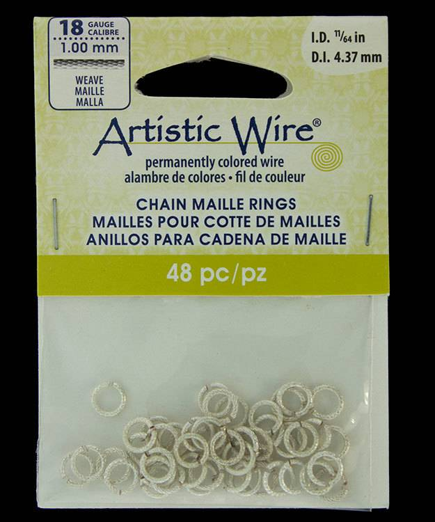 "900AWSW-06 = Artistic Wire Weave Silver Color Jump Ring 4.3mm ID (11/64"") 18ga"