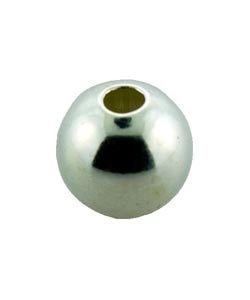 ABSF-06S = Seamless Bead Silver Filled 6.0mm Polished Small Hole (Pkg of 10)