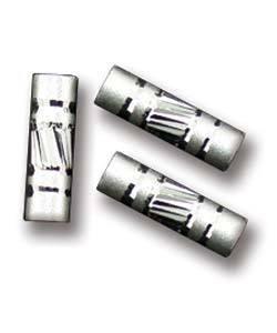 ABS-TD04 = Sterling Silver Bead Tube Satin & Diamond Cut 3x10mm (Pkg of 10)