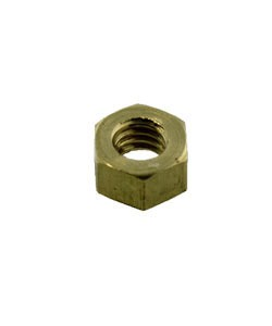 "CCBR4003 = Brass Hex Nut for 0.073"" SCREW (Size #1) (Pkg of 6)"