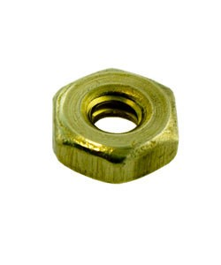 "CCBR4005 = Brass Hex Nut for 0.112"" SCREW (Pkg of 6)"