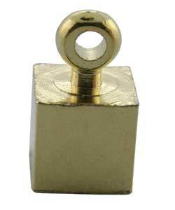 CD45013G = Memory Wire ENDCAP CUBE with RING GOLD PLATED (Dozen)