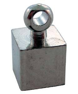 CD45013S = Memory Wire ENDCAP CUBE with RING SILVER PLATED (Dozen)