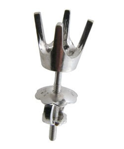 100W-50 = Earring Round 4 Prong Screwback 5.0mm 14KW (No Back)