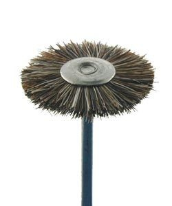 16.612 = MOUNTED DOUBLE BRISTLE WHEEL DIXEL BRUSHES  3/4'' SOFT (Pkg of 12)