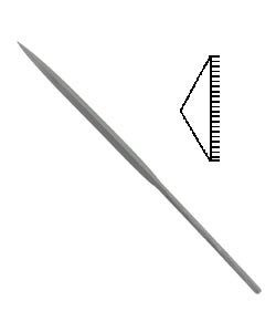 31.461 = FILE - NEEDLE BARRETTE 2 CUT 6.25''