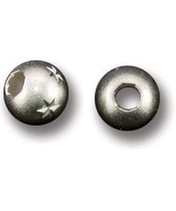 ABS-5S6 = Sterling Silver Bead 5 STAR 6.0MM (Pkg of 10)