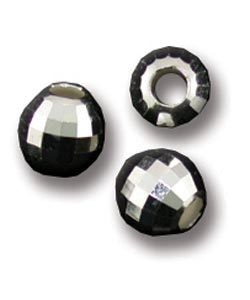 ABS-MR6 = Sterling Silver Faceted Mirror Bead 6mm (Pkg of 5)