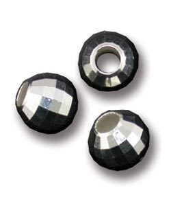 ABS-MR7 = Sterling Silver Faceted Mirror Bead 7mm (Pkg of 5)