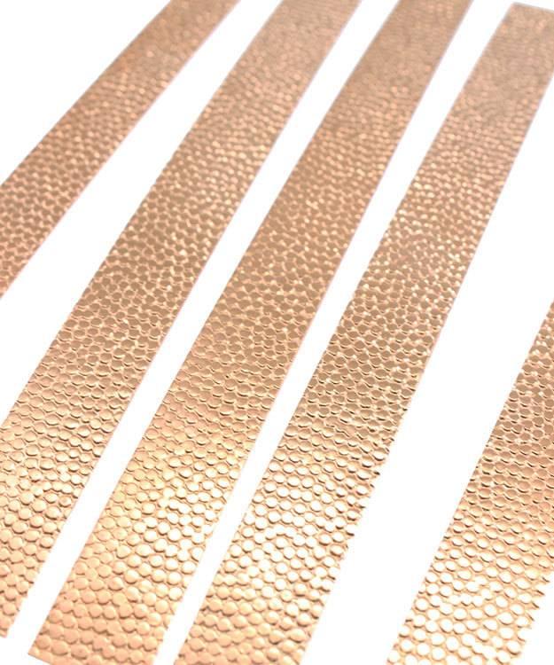 "CSP303 = Patterned Copper Strips 6"" x 1/2""  24ga (Pkg of 5)"