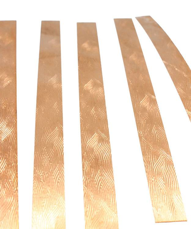 "CSP339 = Patterned Copper Strips 6"" x 1/2""  24ga (Pkg of 5)"