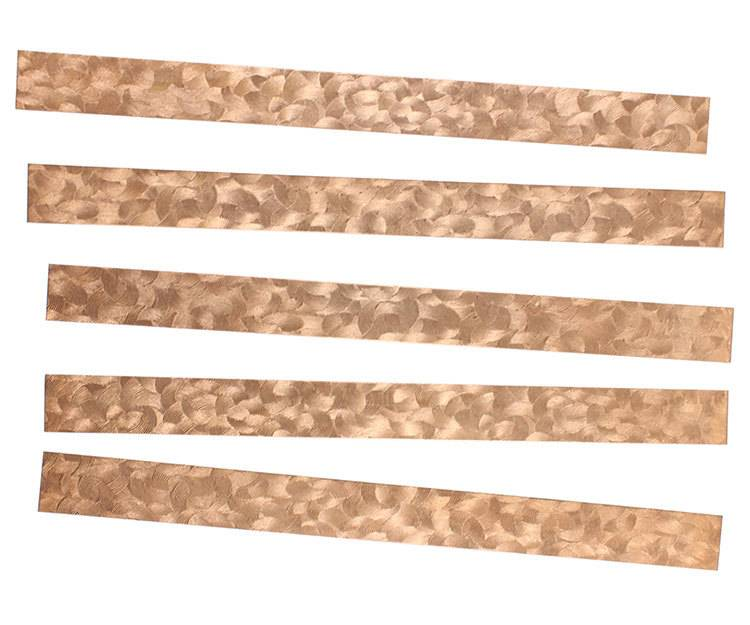 "CSP352 = Patterned Copper Strips 6"" x 1/2""  24ga (Pkg of 5)"