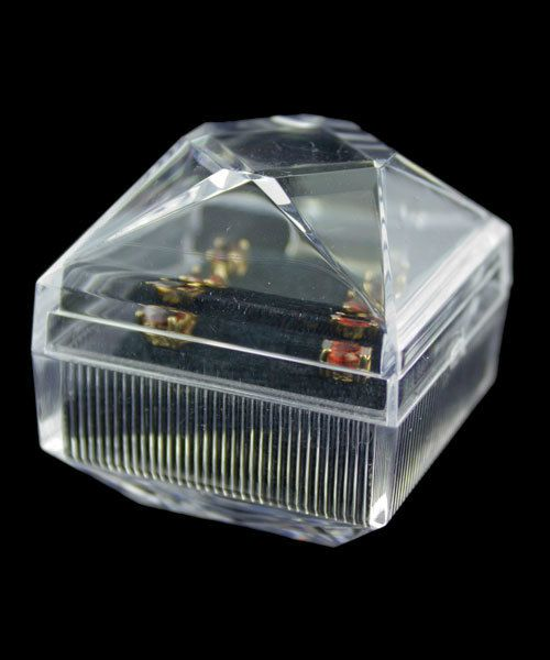 DBX1708 = Lucite Crystal Cut Earring Box (Dozen)