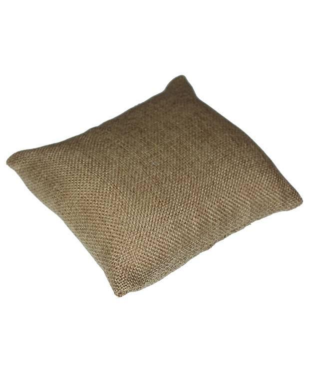 "DIS3110 = Burlap Pillow for Watches or Bracelets 5""x5"" (Pkg of 2)"