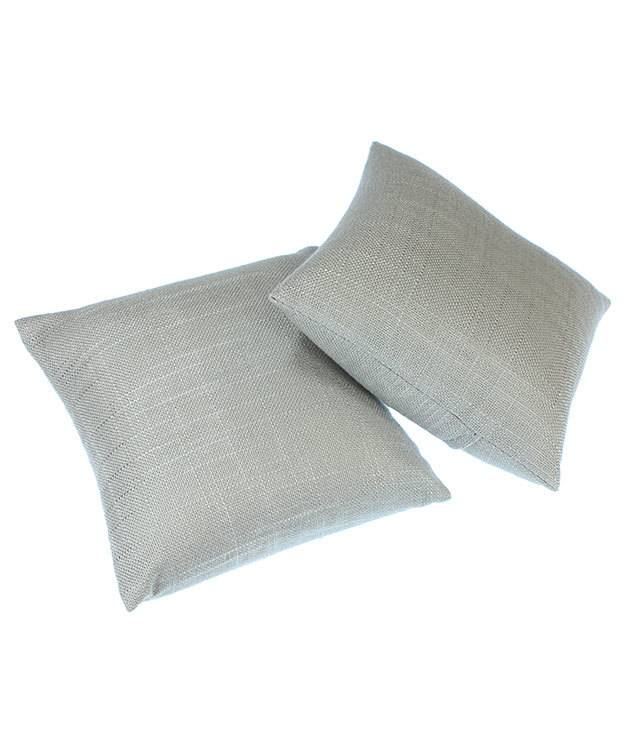 """DIS7110 = Grey Linen Pillow for Watches or Bracelets 5""""x5"""" (Pkg of 2)"""