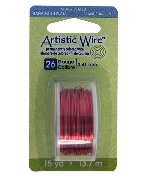 WR27026 = Artistic Wire Dispenser Pack SP PEACH 26ga 15 Yards