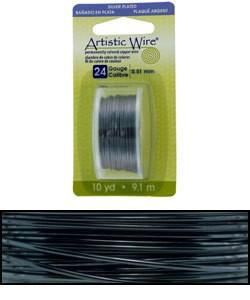 WR26924 = Artistic Wire Dispenser Pack SP HEMATITE 24ga 10 YARD