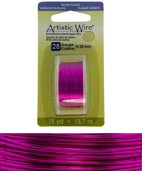 WR26528 = Artistic Wire Dispenser Pack SP FUCHSIA 28ga 15 YARD