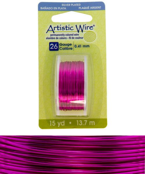 WR26526 = Artistic Wire Dispenser Pack SP FUCHSIA 26ga 15 YARD