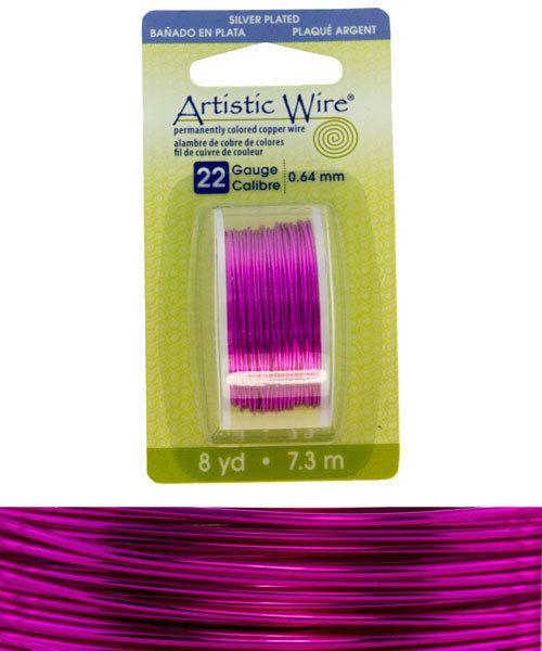 WR26522 = Artistic Wire Dispenser Pack SP FUCHSIA 22ga 8 YARD
