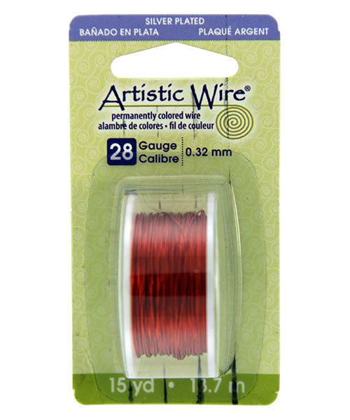 WR26128 = Artistic Wire Dispenser Pack SP TANGERINE 28ga 15 Yards