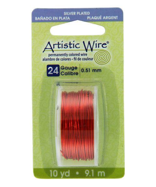 WR26124 = Artistic Wire Dispenser Pack SP TANGERINE 24ga 10 Yards