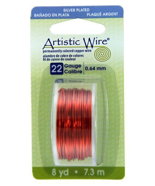 WR26122 = Artistic Wire Dispenser Pack SP TANGERINE 22ga 8 Yards