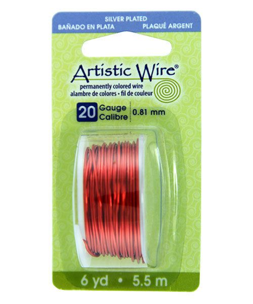 WR26120 = Artistic Wire Dispenser Pack SP TANGERINE 20ga 6 Yards