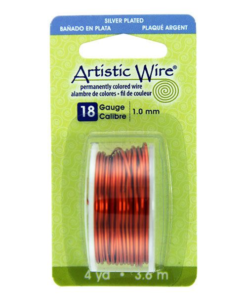 WR26118 = Artistic Wire Dispenser Pack SP TANGERINE 18ga 4 Yards