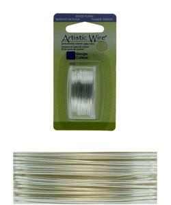 WR26034 = Artistic Wire Dispenser Pack SP TARNISH RESISTANT SILVER 34ga 30 Yards