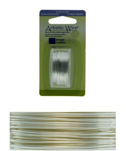 WR26026 = Artistic Wire Dispenser Pack SP TARNISH RESISTANT SILVER 26ga 15 Yards