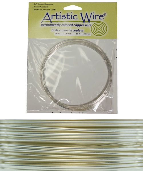 WR26016 = ARTISTIC WIRE COIL SP TARNISH RESISTANT SILVER 16ga 10 FEET