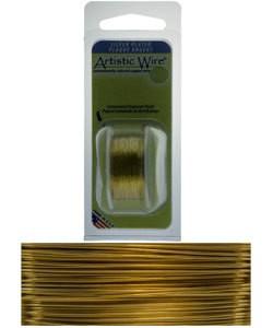 WR25332 = Artistic Wire Dispenser Pack SP GOLD 32ga 30 Yards