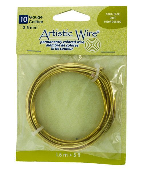 WR25310 = ARTISTIC WIRE COIL BAG SP GOLD 10ga 5 FEET