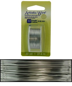 WR23830 = Artistic Wire Dispenser Pack Stainless Steel 30ga (30 yds)
