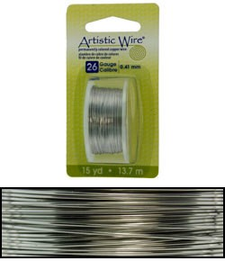 WR23826 = Artistic Wire Dispenser Pack Stainless Steel 26ga (15 yds)