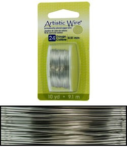 WR23824 = Artistic Wire Dispenser Pack Stainless Steel 24ga (10 yds)