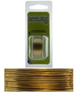 WR23622 = Artistic Wire Dispenser Pack TARNISH RESISTANT BRASS 22ga 8 Yards
