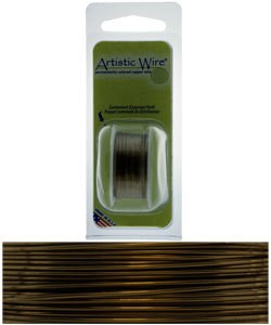 WR22920 = Artistic Wire Dispenser Pack Antique Brass 20ga 6 Yards
